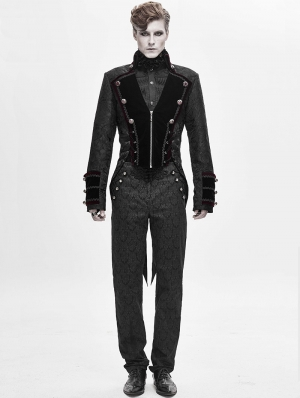 Black Retro Gothic Party Swallow Tail Coat for Men