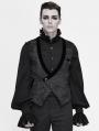Black Retro Gothic Short Waistcoat for Men