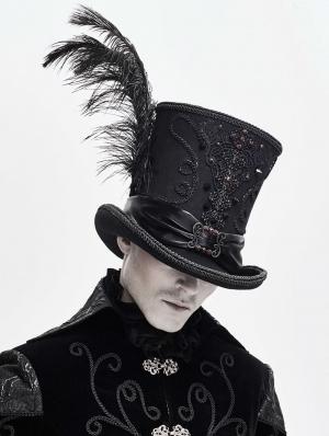 Black Retro Gothic Hat for Men
