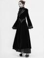 Black Vintage Gothic Velvet Long Sleeve Dress Coat for Women