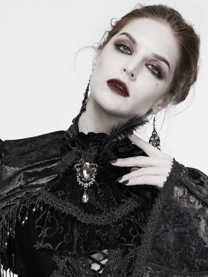 Black Gothic Retro Velvet Bowtie