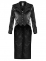 Black Vintage Gothic Party Tailcoat for Men