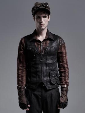 Black Do Old Steampunk Vest for Men