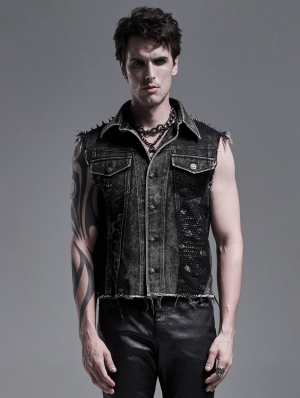Do Old Gothic Punk Heavy Metal Vest Top for Men