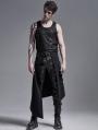 Black Gothic Punk Heavy Metal Irregular Skirt for Men