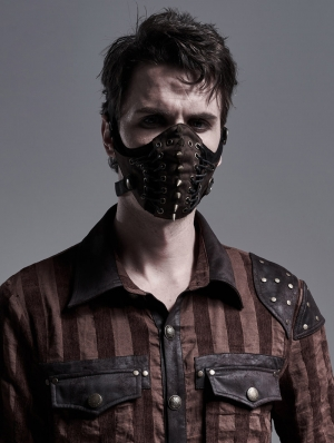 Brown Gothic Punk Mask for Men