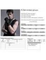 Black Gothic Punk Metal Knitted Rivet Gloves for Men