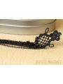 Black Lace Chain Tassel Gothic Earrings
