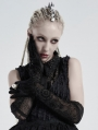 Black Daily Wear Vintage Pattern Gothic Gloves for Women