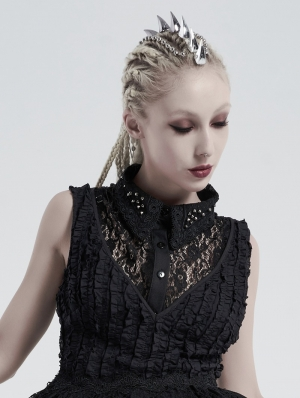 Black Vintage Gothic Independent Lace Collar for Women