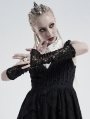 Black Gothic Retro Lace Gloves for Women