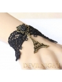 Eiffel Tower Accessories Black Lace Pendant Vinatge Bracelet