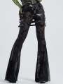 Black Gothic Sexy PU Leather Harness Thigh Sock Garter