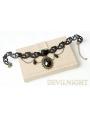 Black Lace Pendant Chain Gothic Necklace