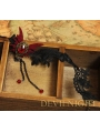 Black Vampire Gothic Lace Butterfly Pendant Necklace