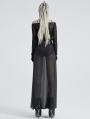 Black Gothic Off-the-Shoulder Transparant Cobweb Long Sleeve T-Shirt for Women