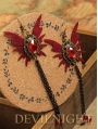 Vampire Gothic Butterfly Pendant Earrings