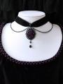 Vintage Dark Rose Chain Choker Necklace