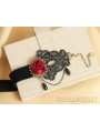 Black Rose Lace Gothic Ankle Bracelet