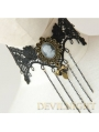 Black Lace Victorian Pendant Gothic Necklace