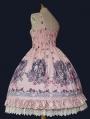 Red / Blue / Pink Infanta Fairy Tale Rose Pattern Sweet Lolita JSK Dress
