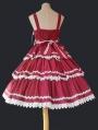 Black / Red / Blue Infanta Lace Applique Sweet Lolita JSK Dress
