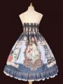 Infanta Mother Goose Nursery Rhyme Blue Chiffon Elegant Sweet Lolita JSK Dress