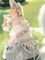 Rose Girl Off-the-Shoulder Tea Party Sweet Lolita OP Dress