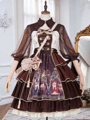 Brown Retro Sweet Lolita JSK Dress