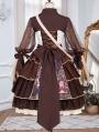 Brown Retro Sweet Lolita JSK Dress