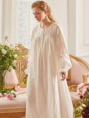 White Simple Vintage Medieval Underwear Chemise Dress