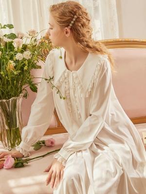 White Vintage Medieval Cute Underwear Chemise Dress