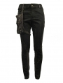 Men's Brown Steampunk Do Old Style Pants with Detachable Bag
