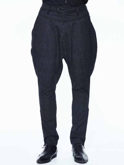 Black Vintage Jacquard Gothic Long Pants for Men