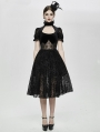 Black Vintage Elegant Gothic Short Party Dress