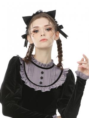 Black Sweet Gothic Cat Ears Headdress