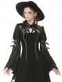 Black Gothic Punk Bat Long Sleeves Short Cape for Women