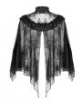 Black Gothic Lace Short Cape for Women