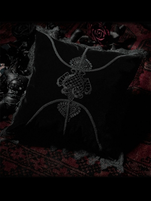 Black Gothic Decal Pillow/Cushion