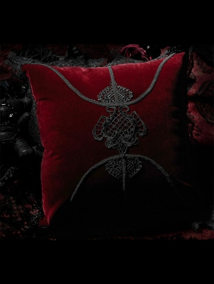 Dark Red Gothic Decal Hold Pillow/Cushion