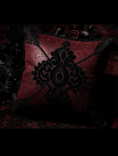 Dark Red Gothic Gorgeous Hold Pillow/Cushion