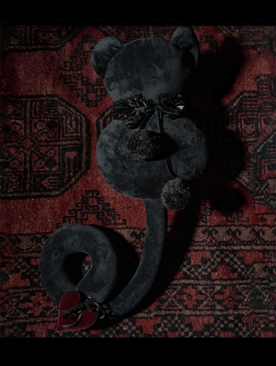 Wlric Faceless Black Cat Toy