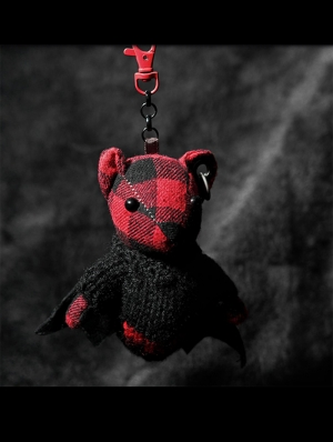 Gothic Red Bat Bear