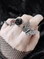 Dark Gothic Butterfly Ring