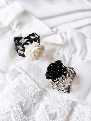 Vintage Gothic Rose Ring