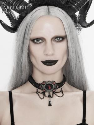 Vintage Dark Gothic Chain Jewel Chocker