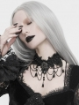 Black Dark Gothic Chain Lace Necklace