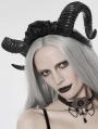 Black Gothic Devil Horn Headdress