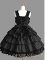 Black Sleeveless Sweet Bow Gothic Lolita Dress