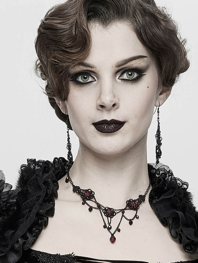 Dark Gothic Chain Pendant Necklace